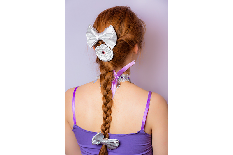 noeud argent baroque fait main accessoire cheveux coiffure souvenir cadeau mode femme