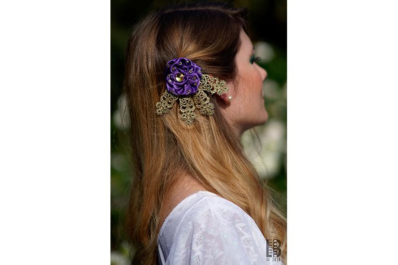 accessoire cheveux made in france violet fait main