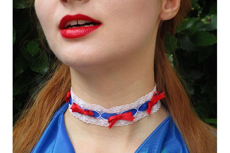collier bijou choker fait main tricolore made in france bleu blanc rouge