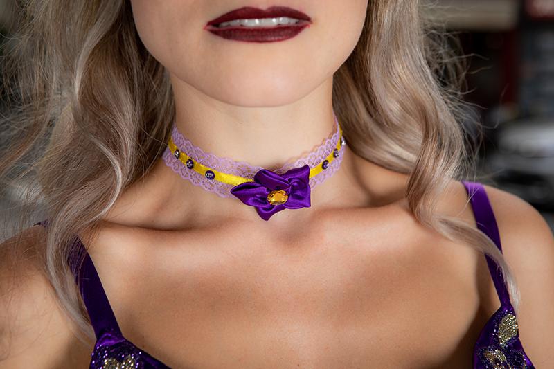 collier ras de cou choker made in france artisanal dentelle ruban fleur romantique girly