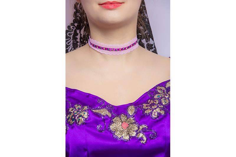 collier choker made in france ruban sequine dentelle bijou fait main accessoire mode femme