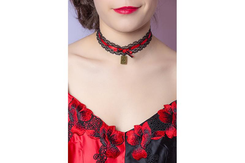 collier bijou choker ras de cou fait main made in france accessoire mode tendance cosplay cadeau souvenir
