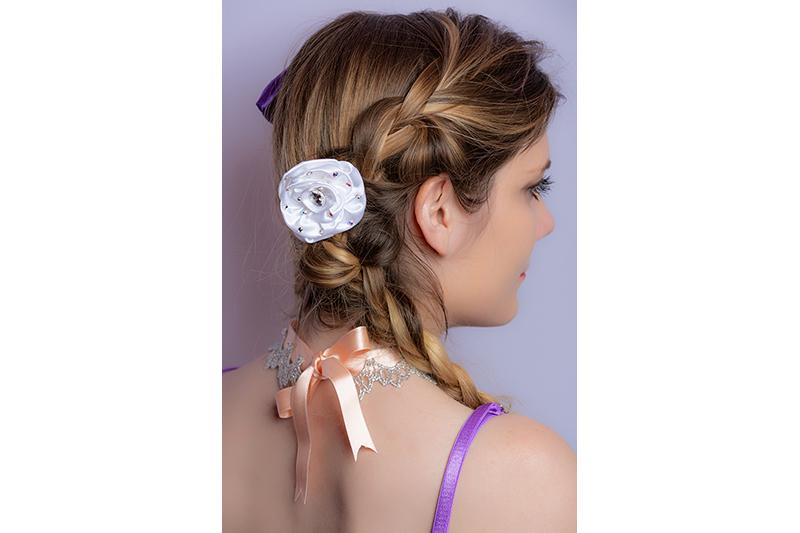 accessoire cheveux fleur haute couture fait main barrette made in france mariage coiffure luxe