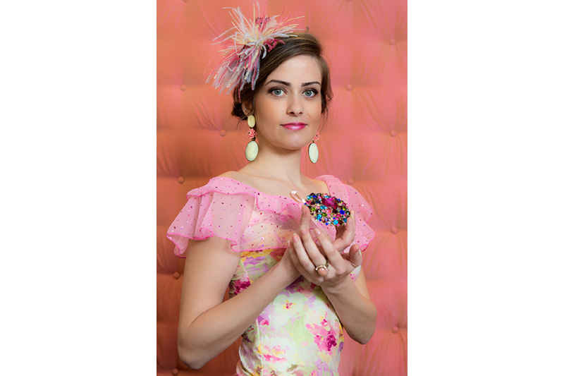 haut femme made in france rose fleurs imprime floral delicat volant feminin