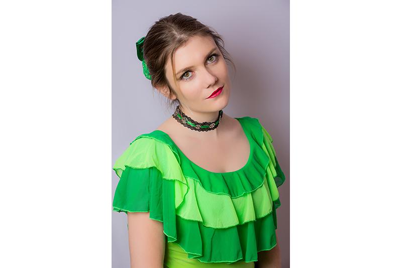 hauts volants vert made in france mode femme pret a porter luxe