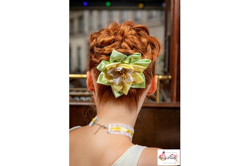 barrette fait main accessoire coiffure soiree fleur cheveux made in france