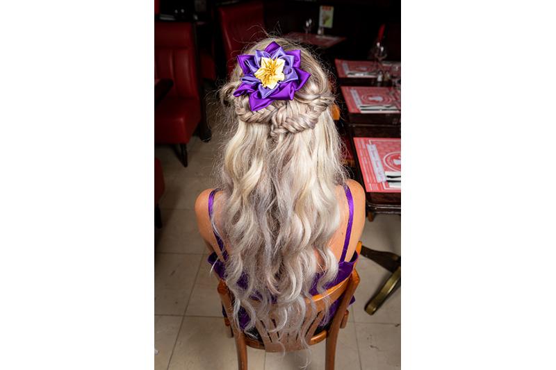 accessoire haute couture made in france barrette cheveux coiffure soir cadeau souvenir fait main