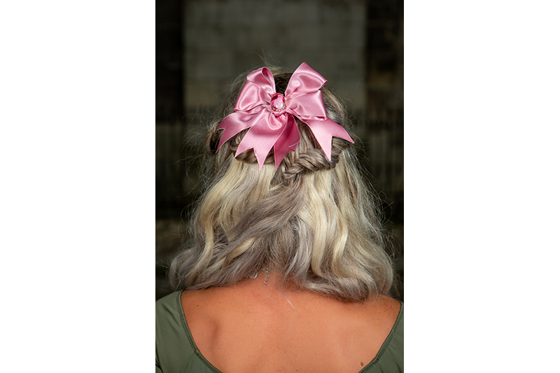 noeud pour cheveux made in france rose satin