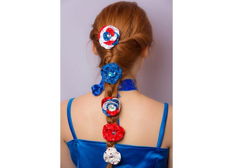 fleur haute couture cheveux fait main satin accessoire coiffure made in france cadeau souvenir