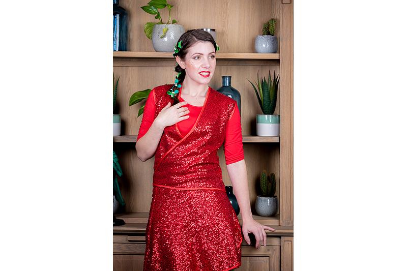 jupe tendance femme made in france sequins rouge portefeuille