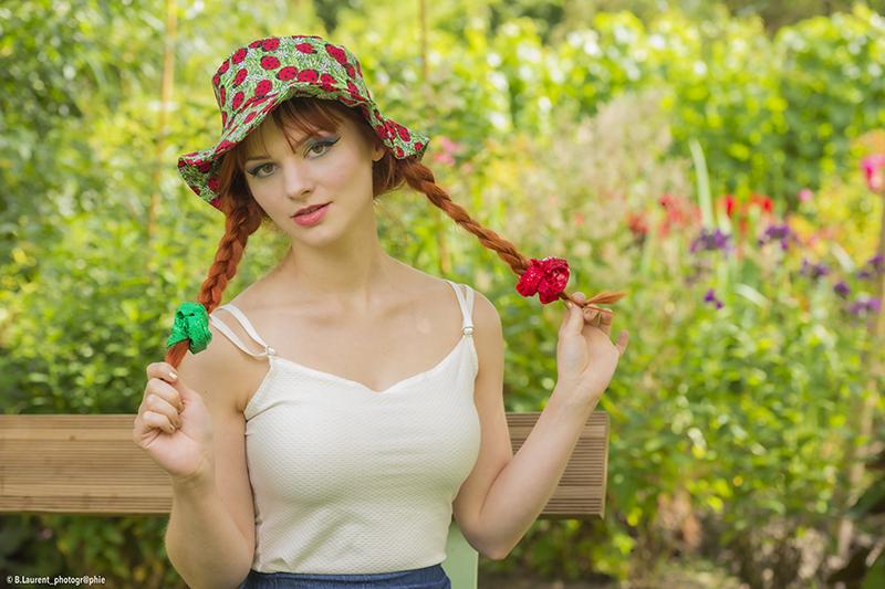 chapeau de soleil made in france bob pour la plage en coton imprimé coccinelles fait main pièce unique