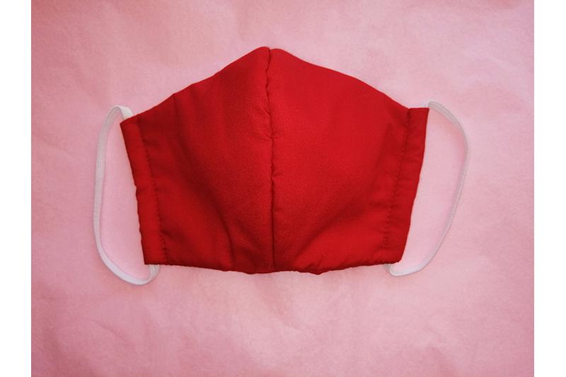 masque alternatif tissu protection covid virus coronavirus lavable ecologie qualite made in france fait main rouge uni