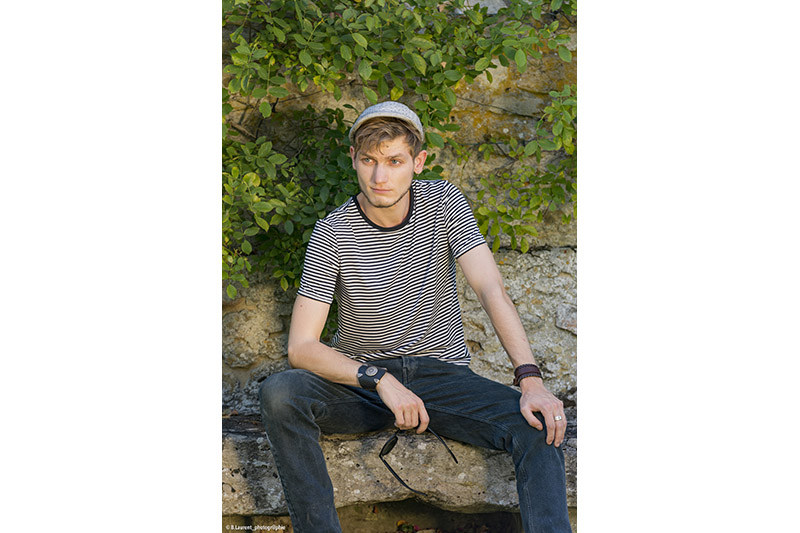 t shirt homme mode raye rayures noir blanc made in france infroissable entretien facile qualite
