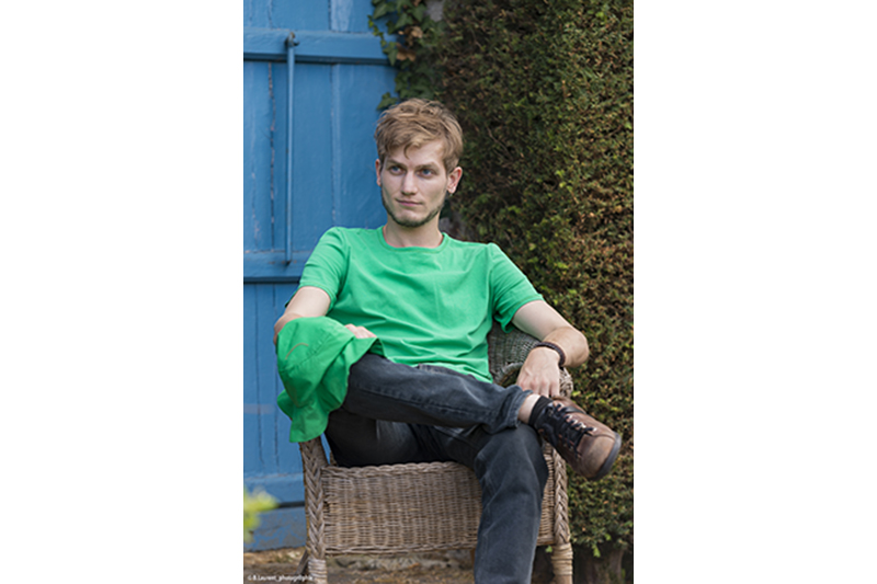 t-shirt pour homme made in france jersey coton vert fait main