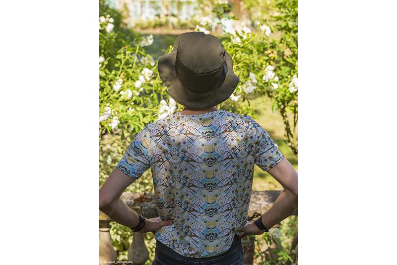 tee-shirt t-shirt mode homme made in france motifs imprime abstrait