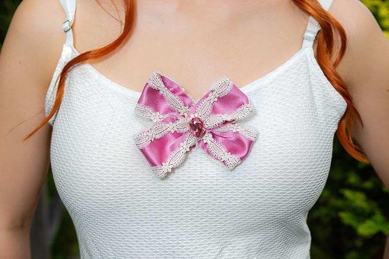 broche noeud made in france accessoire de mode barrette rose noeud made in france