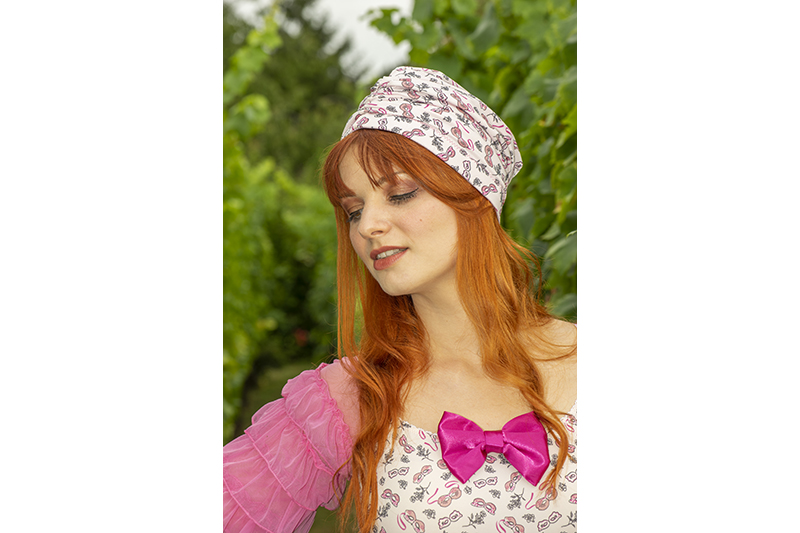 turban femme rose made in france cancer chimio octobre rose