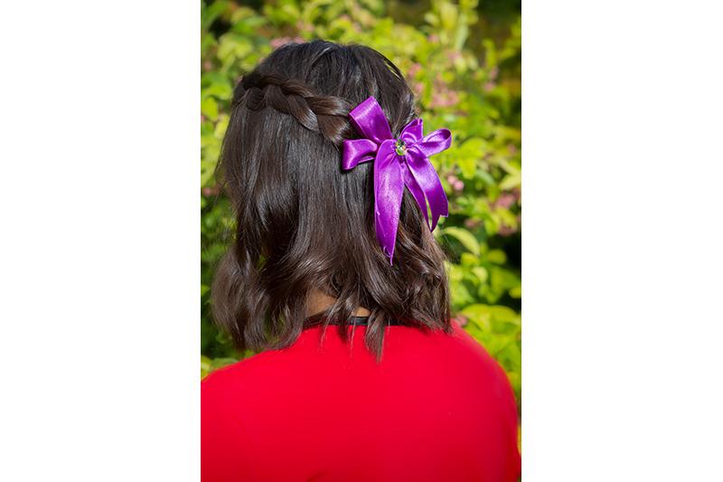 accessoire cheveux made in france barrette noeud violet bijou de tete