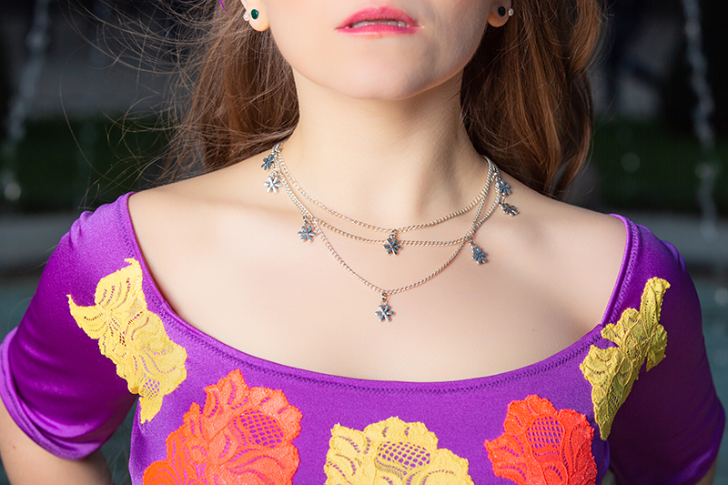 collier chaine pendentif bijou made in france fait main breloques fleurs