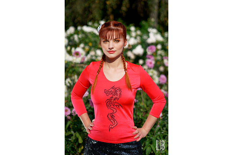 tee-shirt made in france pour femme strass dragon halloween disneybound
