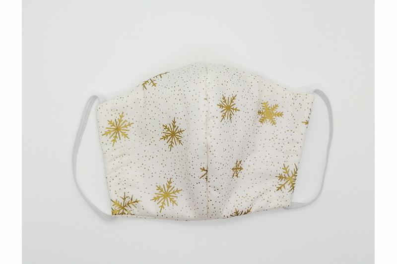 masque alternatif noel blanc flocons made in france masque facial protection covid coronavirus
