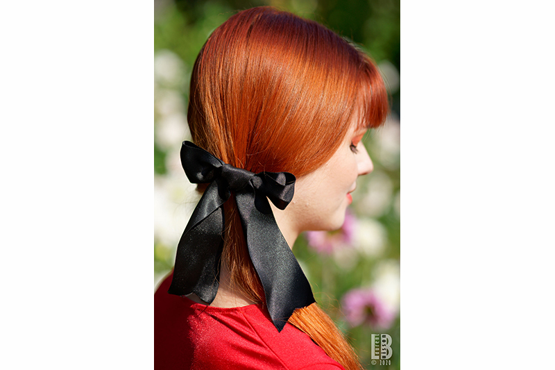 accessoire cheveux made in france noeud noir satin harley quinn disneybound