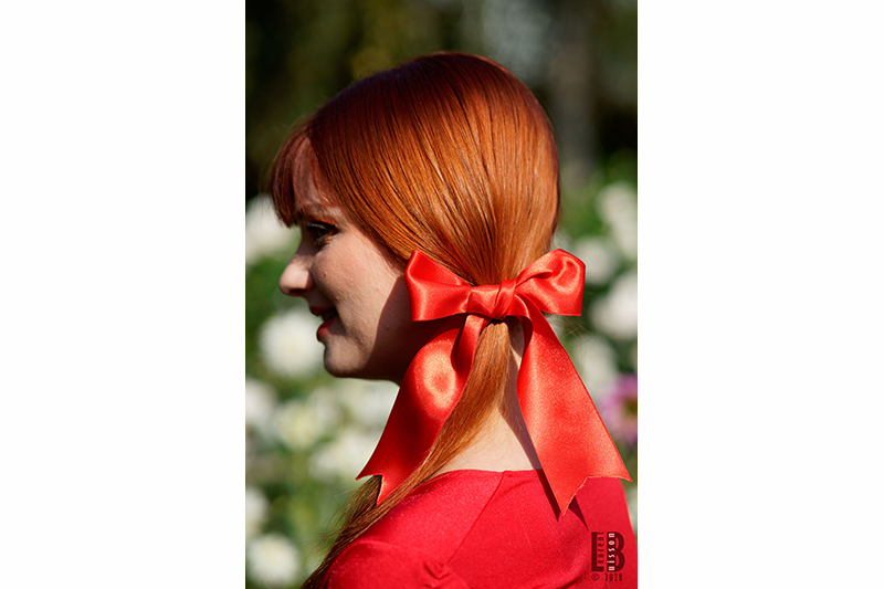 accessoire cheveux rouge noeud coiffure made in france disneybound harley quinn