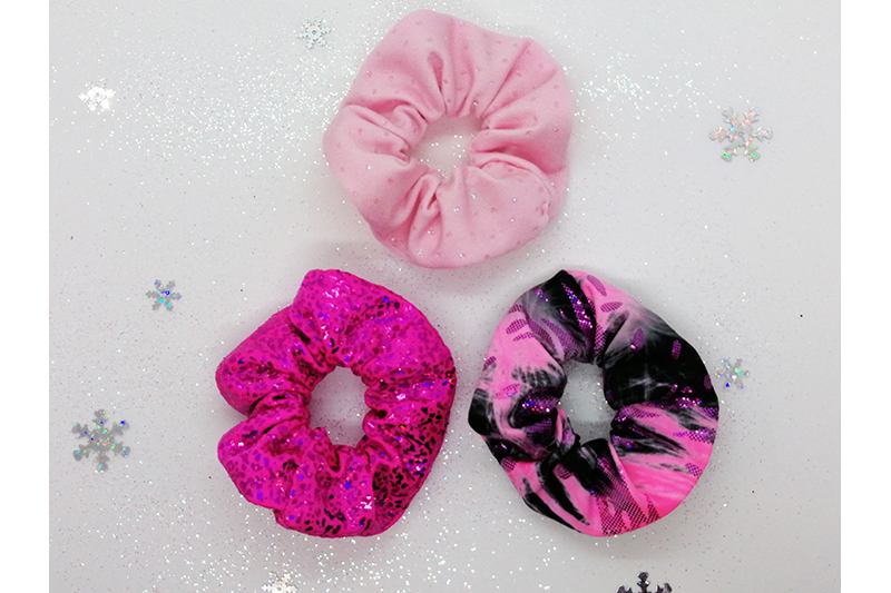 cofffret cadeau noel chouchous scrunchies roses made in france consommer local