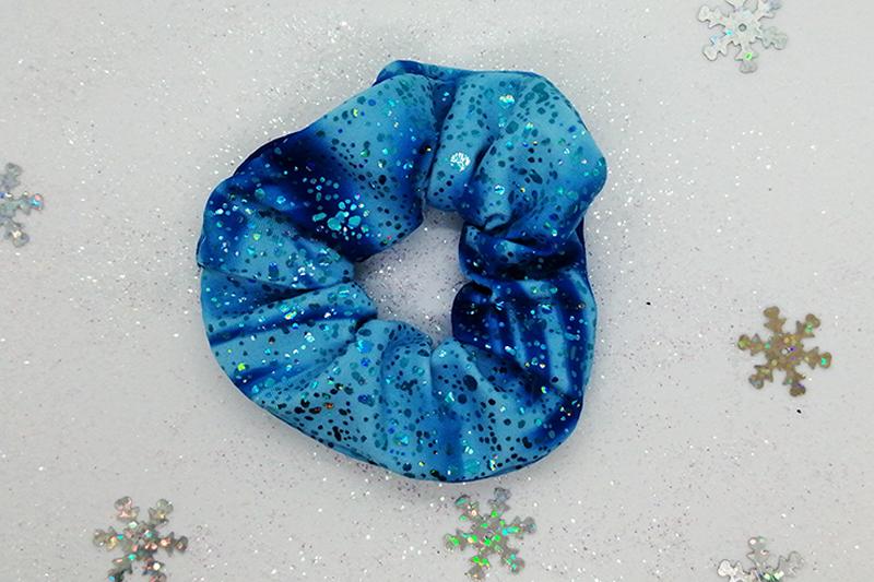 chouchou scrunchie bleu made in france