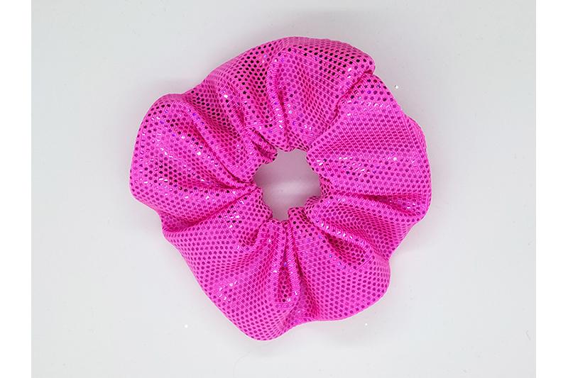 chouchou cheveux scrunchie mace in france accessoire coiffure rose