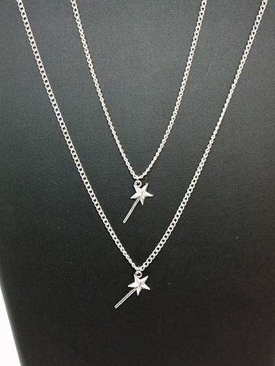 bijou collier pendentif baguettes magiques disneybound made in france