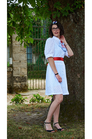 robe blanche broderie anglaise made in france
