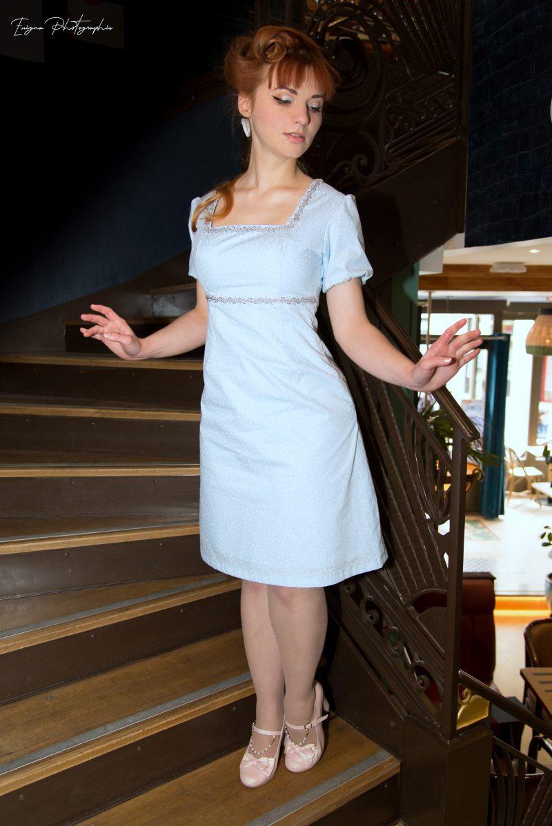 robe bleue made in france disneybound cendrillon
