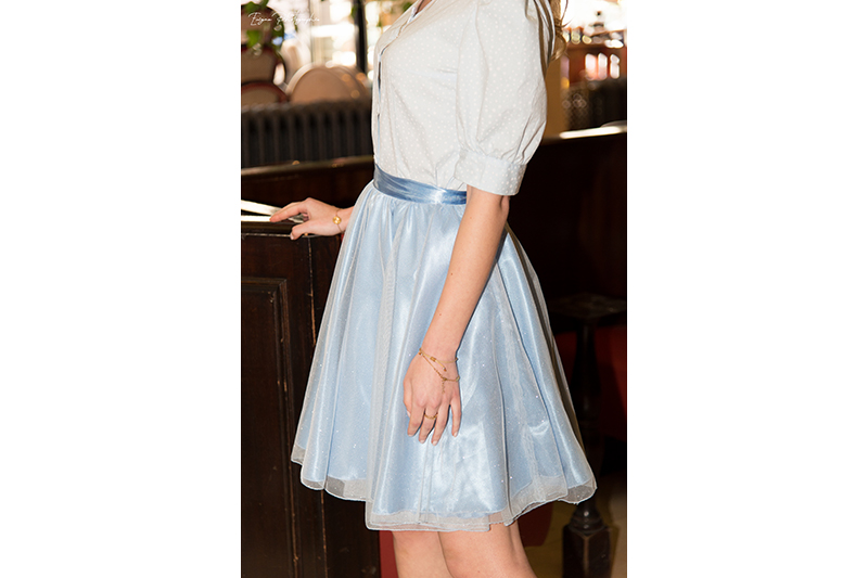 jupe bleu ciel made in france cendrillon