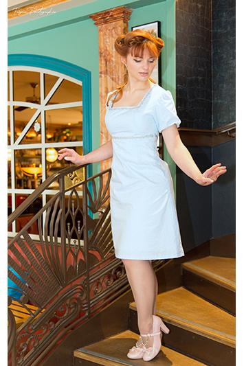 robe bleu ciel made in france disneybound cendrillon