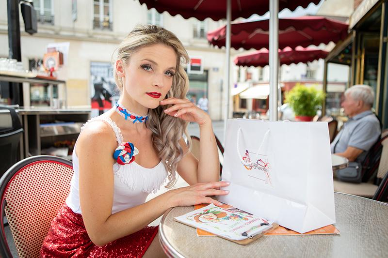 collier ras de cou choker bleu blanc rouge tricolore fait main artisanat français