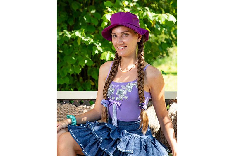 haut femme mauve violet made in france coton