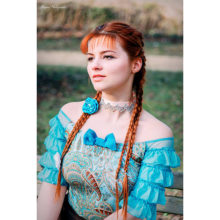 accessoire cheveux turquoise fleur bleue barrette bijou de cheveux made in france