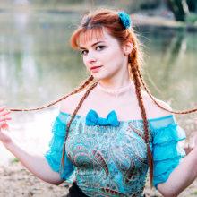 accessoire cheveux made in france turquoise barrette bijou de cheveux fleur satin strass