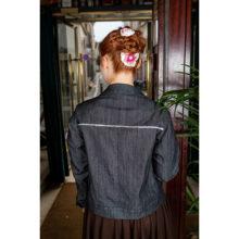 veste blouson jean sequins mode tendance femme made in france