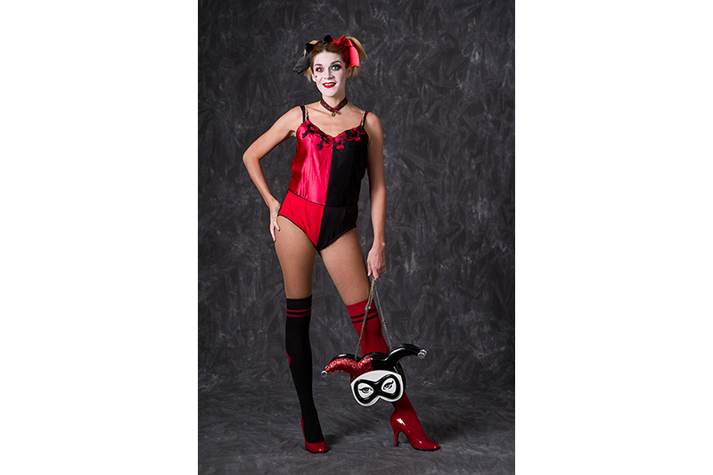 culotte bicolore harley quinn made in france rouge noir