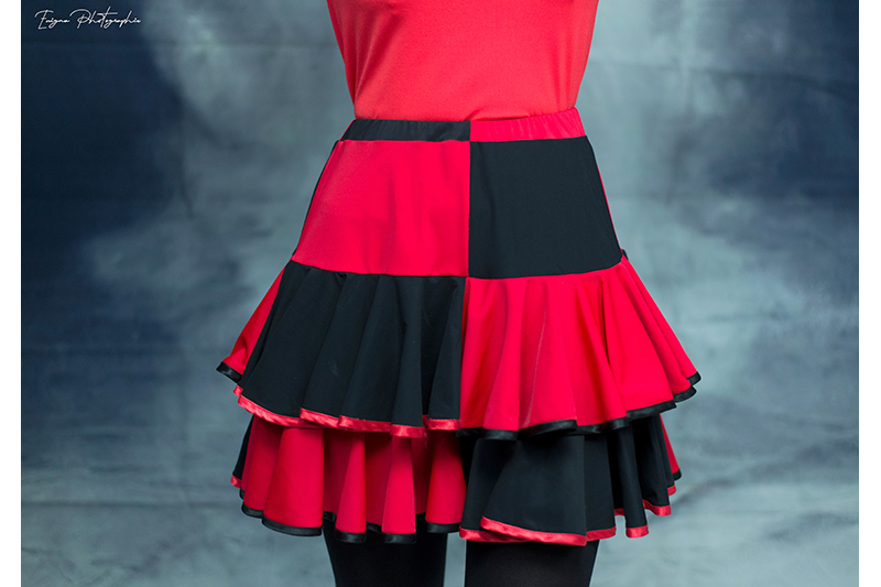 jupe femme made in france harley quinn cosplay