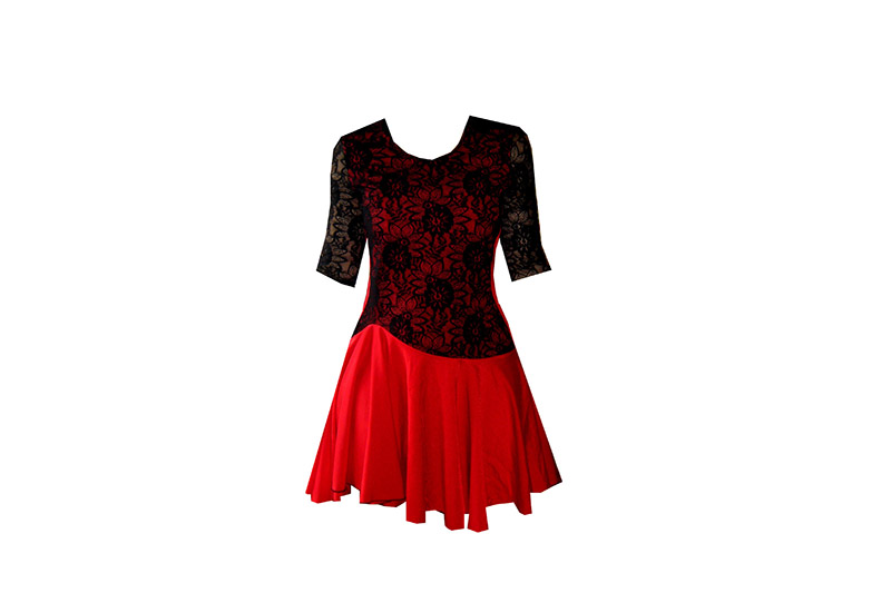 robe-made-in-france-bicolore-rouge-noire-red-black-dress-dance-tango-danse-lycre-dentelle-lace