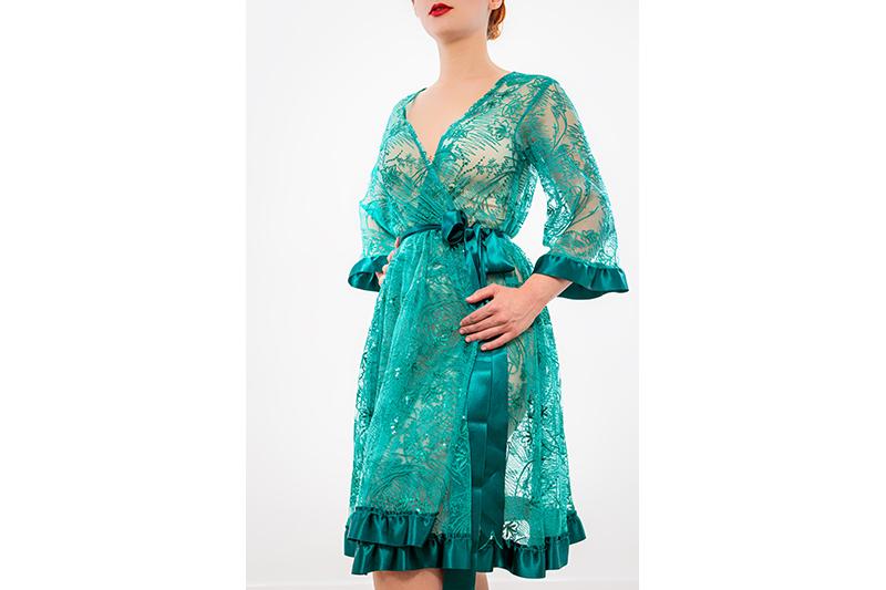 kimono deshabille peignoir lingerie sexy made in france