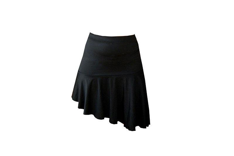 jupe asymetrique made in france maille noire danse latine salsa rock