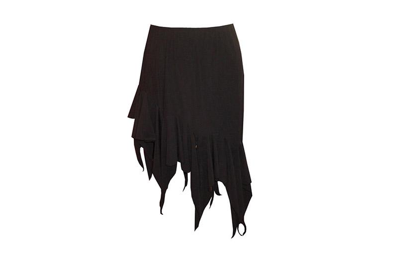 jupe made in france maille volant pointes asymetrique noir danse salsa tango mode femme