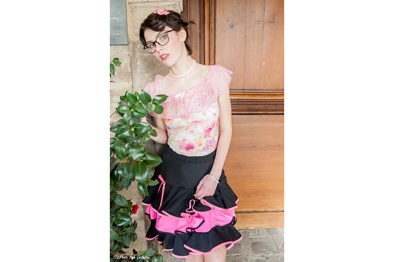 jupe-made-in-france-volants-noir-rose-girly-froufrous-pret-a-porter-femme