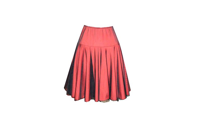 jupe-rouge-noir-made-in-france-resille-maille-ampleur-evasee-danse-vetement-femme