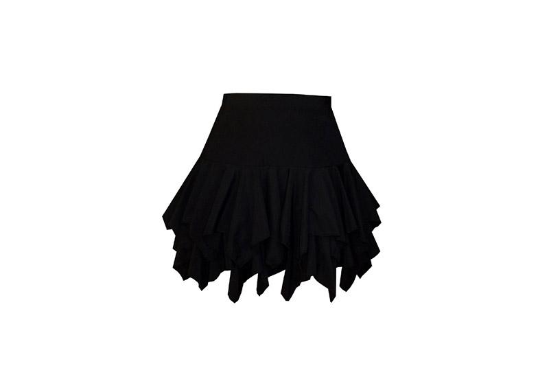 jupe-courte-mini-volants-godets-pointes-noir-mode-femme-pret-a-porter-danse-rock-salsa-latine-made-in-france