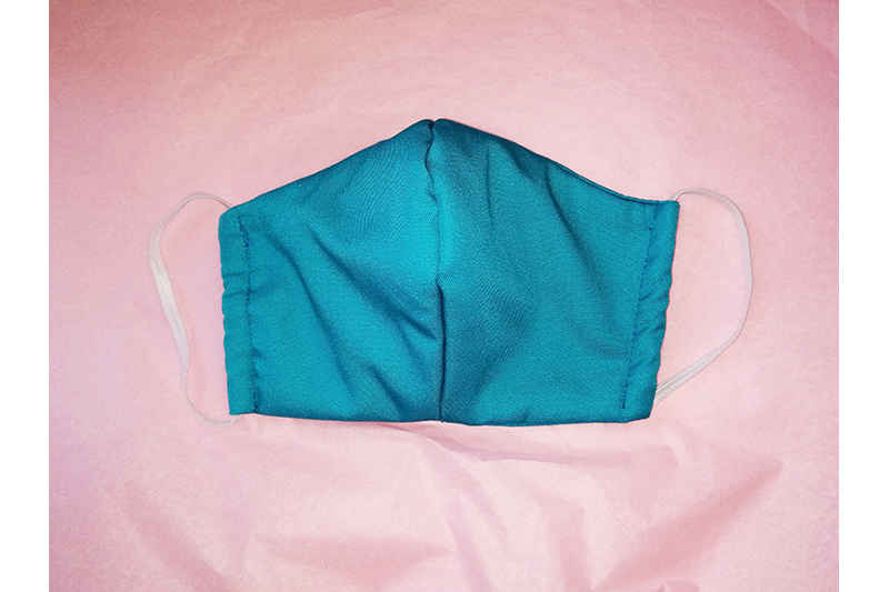 masque alternatif tissu turquoise protection coronavirus covid virus made in france fait main qualite durable ecologie